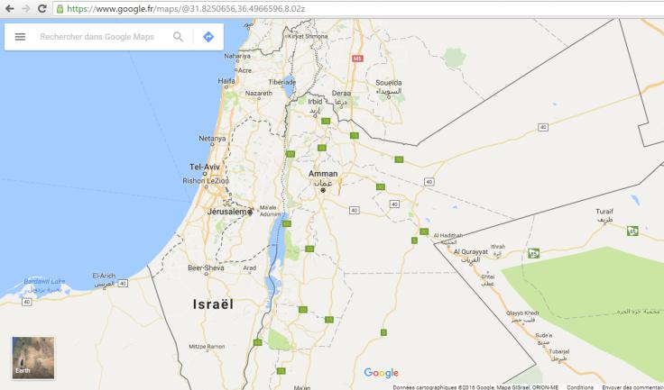 google map no label west bank